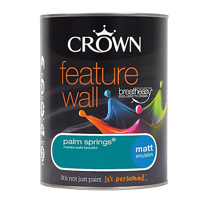 Image for Crown Feature Wall Breatheasy Palm Spring - Matt Paint - 1.25L from StoreName