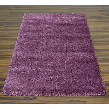 Image for Oslo Shaggy Plum Rug - 100 x 150cm from StoreName