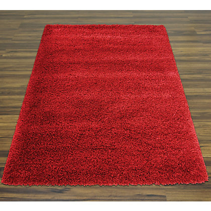 Image for Oslo Shaggy Red Rug - 100 x 150cm from StoreName