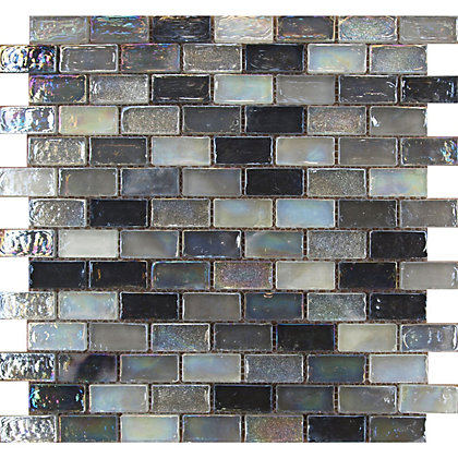 Quartz Silver Hammered Mosaic Tiles 300 X 300mm