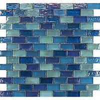 Quartz Hammered Purple Mosaic Tiles - 300 x 300mm