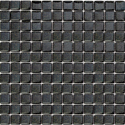 Ruby Black Sparkle Mosaic Tiles 300 X 300mm