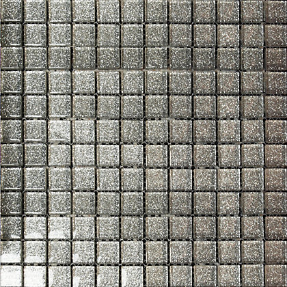 Image for Ruby Grey Sparkle Mosaic Tiles - 300 x 300mm from StoreName