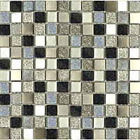 Ruby Jewel Mosaic Tiles - 300 x 300mm