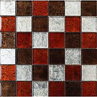 Lapis Galaxy Mix Mosaic Tiles - 300 x 300mm