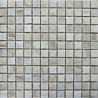 Topaz Ivory Pearl Mosaic Tiles - 327 x 327mm