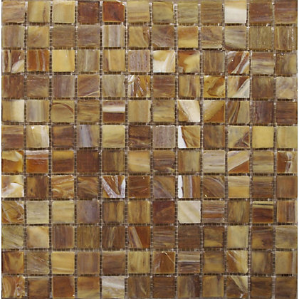 Image for Topaz Teak Pearl Mosaic Tiles - 327 x 327mm from StoreName
