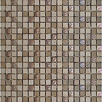 Beige Marble and Glass Mosaic - 300 x 300mm