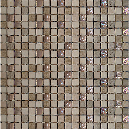 Image for Beige Marble and Glass Mosaic - 300 x 300mm from StoreName