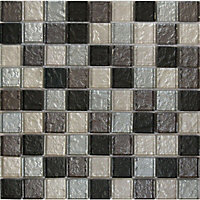 Image for amethyst zaria diamonte mosaic tiles 300 x 300mm from