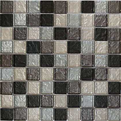 Image for Amethyst Zaria Diamonte Mosaic Tiles - 300 x 300mm from StoreName
