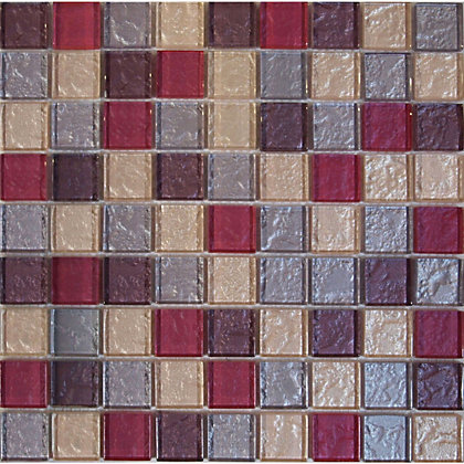 Image for Amethyst Roso Zaria Mosaic Tiles - 300 x 300mm from StoreName