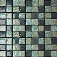Amethyst Zaria Turquoise Mosaic Tiles - 300 x 300mm