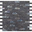 Black Marble and Glass Brick Mosaic Tiles - 305 x 305mm