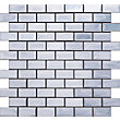 Stainless Steel Large Brick Mosaic - 29.8X29.8 - 1 Pack