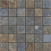 Iron Stone Mosaic Tiles - 300 x 300mm