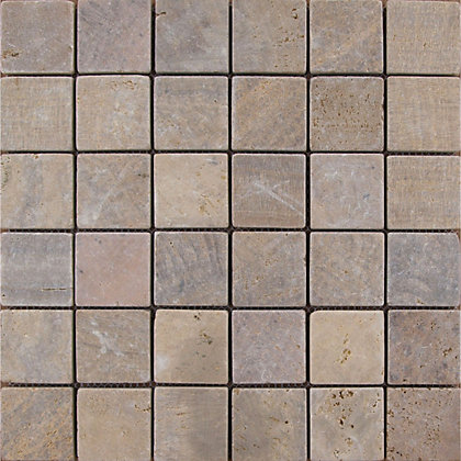 Image for Rosa Stone Mosaic Tiles - 300 x 300mm from StoreName