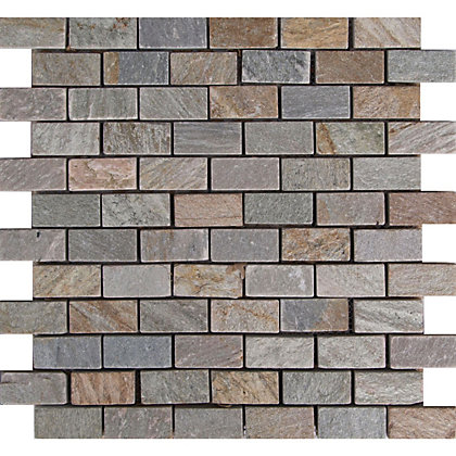 Image for Desert Stone Brick Mosaic Tiles - 300 x 300mm from StoreName