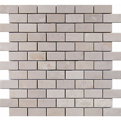 Image for Ivory Stone Brick Mosaic Tiles - 300 x 300mm from StoreName