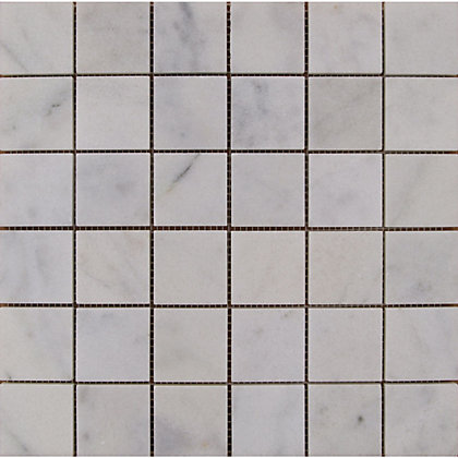 Image for Polished Marble Mosaic Tiles - White - 305 x 305mm from StoreName