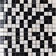 Polished Marble Mosaic Black And White - 30.5X30.5 - 1 Pack