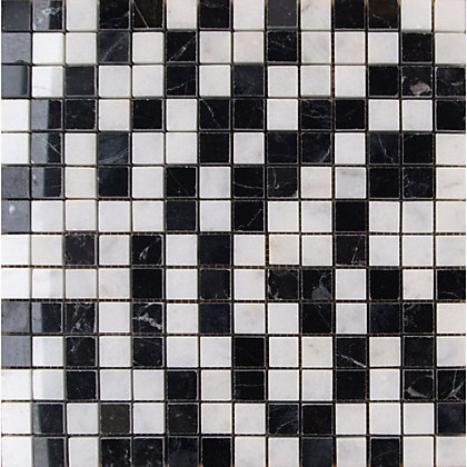 Image for Polished Marble Mosaic Black And White - 30.5X30.5 - 1 Pack from StoreName