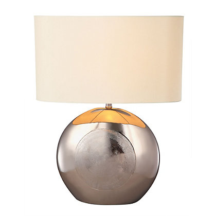 Image for Emma - Scratched Round - Table Lamp from StoreName