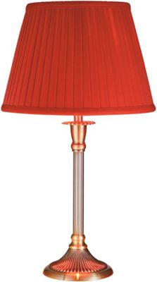 Table lamp matalan antique brass table lamp with red shade