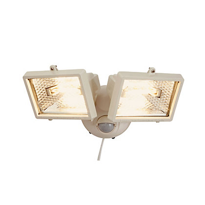 Image for Twin 120W White Halogen Floodlight PIR from StoreName