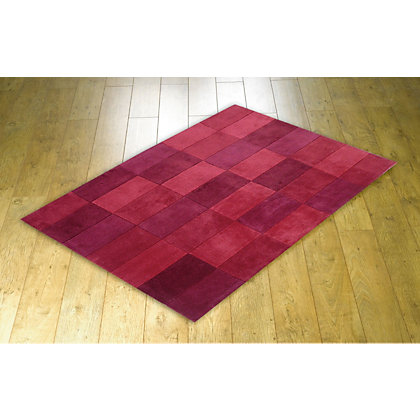 Image for Cube Mix Rug - Red - 120 x 170cm from StoreName