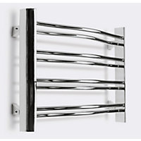 Wilton Curved Heated Towel Rail 420H x 600L Chrome