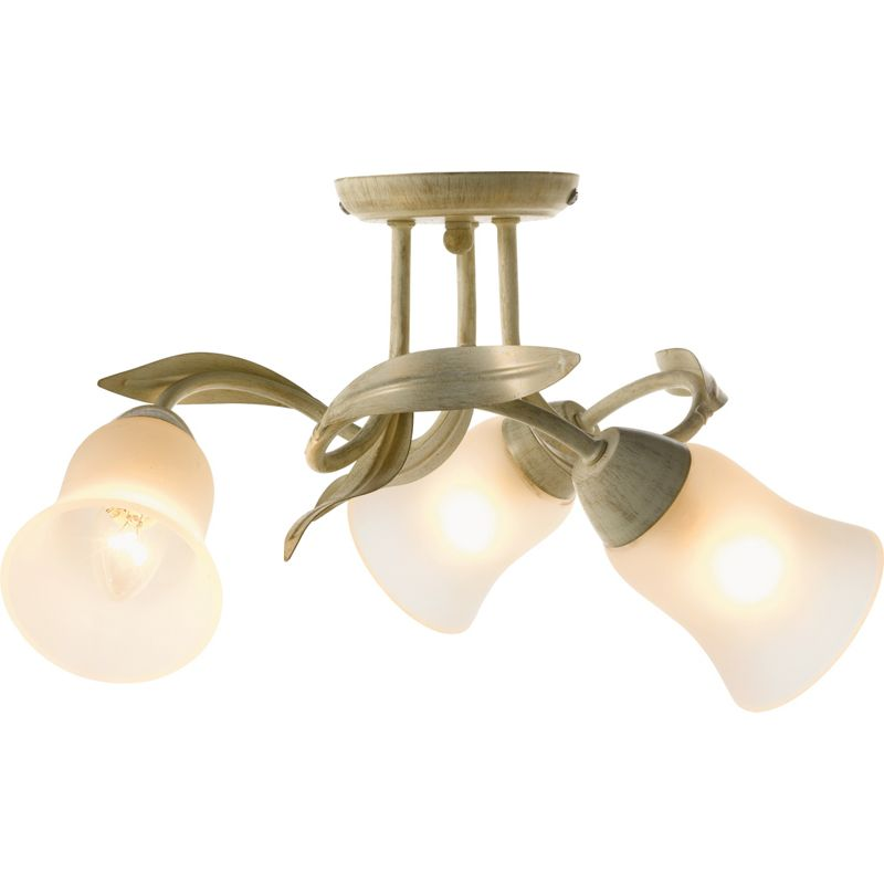 Homebase Tulip Ceiling Lights : Crocus light semi flush ceiling silver best price