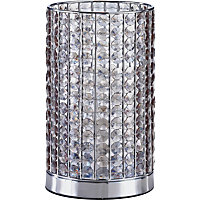 Marcie - Beaded Table Lamp - Smoky