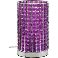 Marcie - Beaded Table Lamp - Plum