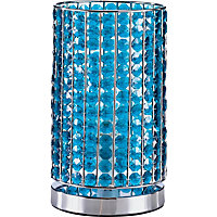 Marcie - Beaded Table Lamp - Teal