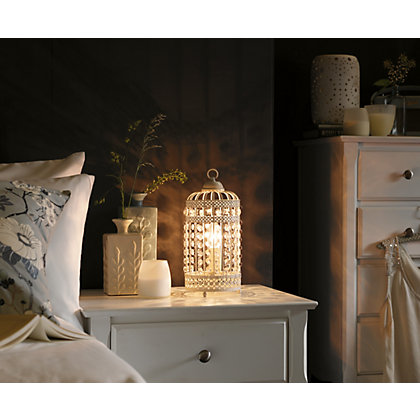 Image for Bird Cage - Table Lamp - Cream from StoreName