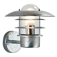 ufo garden wall light galvanised steel at homebase be inspired and make your house a home