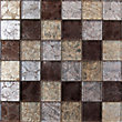 Lapis Galaxy Coffee Mix Mosaic Tiles - 300 x 300mm