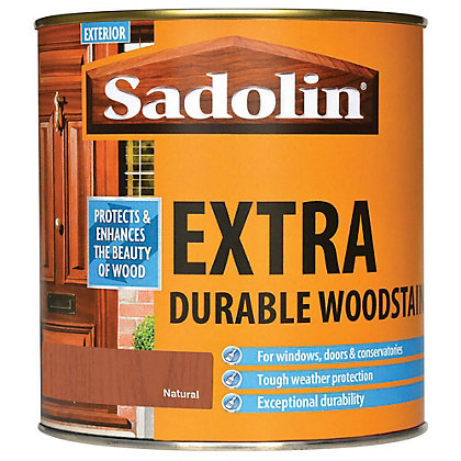 Image for Sadolin Extra Durable Woodstain - Natural - 1L from StoreName