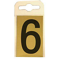 House Number Plate - Black and Gold - 6