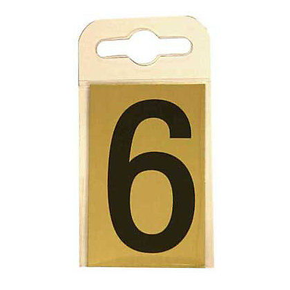 Image for House Number Plate - Black and Gold - 6 from StoreName