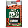 Ronseal Shed & Fence Preserver Autumn Brown - 5L