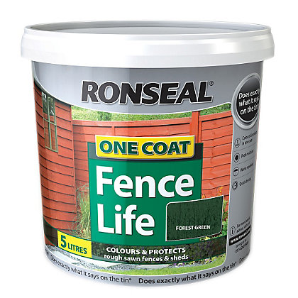 Image for Ronseal One Coat Fence Life Forest Green - 5L from StoreName