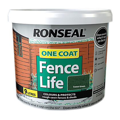 Image for Ronseal One Coat Fence Life Forest Green - 9L from StoreName