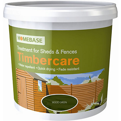 Image for Homebase Timbercare Woodland Green - 9L from StoreName