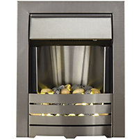 Adam Helios 2kW Electric Inset Fire - Brushed Steel