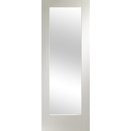 Image for 1 Lite White Primed Shaker Internal Door - 762mm Wide from StoreName