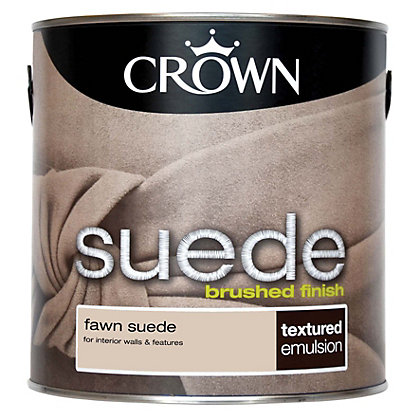 Image for Crown Fashion For Walls Fawn - Suede Matt Emulsion Paint - 2.5L from StoreName