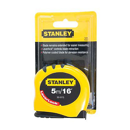 Image for Stanley 5m Leverlock Tape Measure from StoreName