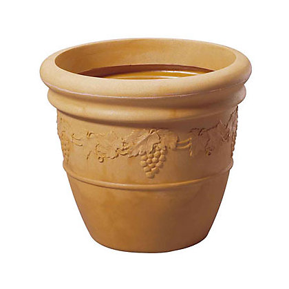 Image for Grapes Pot in Terracotta and Sandstone - 40cm from StoreName